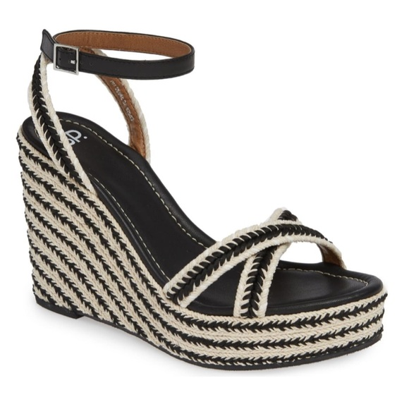 bp Shoes - NWOT BP Gabby Woven Wedge Sandals